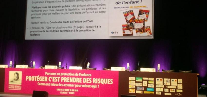 15 & 16 juin 2015 – Présentation du rapport AEDE - Assises de la protection de l'enfance à Rennes