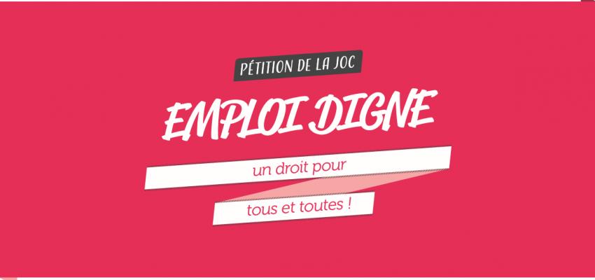 Journée mondiale pour le travail décent - 7 octobre 2017